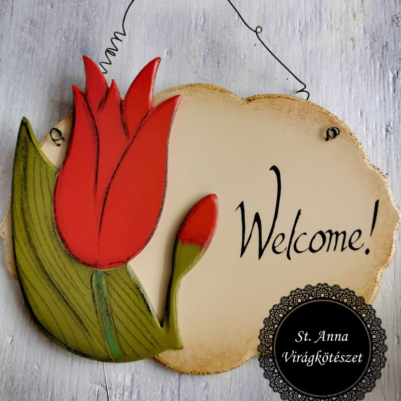 Tulipános ajtókopogtató - Welcome!